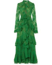 Erdem - Kimber Ruffled Cotton-blend Lace Gown - Lyst