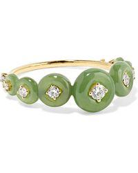 Fernando Jorge - Surround 18-karat Gold, Nephrite Jade And Diamond Ring Gold 7 - Lyst