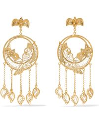 Mallarino - Catalina Gold Vermeil Earrings Gold One Size - Lyst