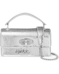 11a08063734b1 Miu Miu Mini Textured-leather Shoulder Bag in Pink - Lyst