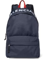 Balenciaga - Wheel Embroidered Shell Backpack - Lyst