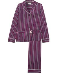 DKNY - New Classic Striped Cotton-blend Jersey Pajamas - Lyst