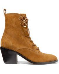 Diane von Furstenberg - Dakota Suede Ankle Boots - Lyst