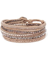 Chan Luu - Leather And Rose Gold-plated Silverite Wrap Bracelet - Lyst