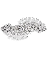 Kenneth Jay Lane - Rhodium-plated Cubic Zirconia Hairclip - Lyst