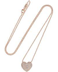 Anita Ko - 18-karat Rose Gold Diamond Necklace Rose Gold One Size - Lyst