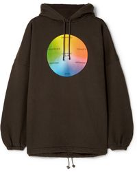 Balenciaga - Oversized Printed Cotton-blend Jersey Hooded Top - Lyst
