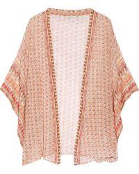 Mes Demoiselles - Ipanema Printed Cotton Kimono - Lyst