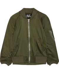 NLST - Cotton-blend Satin Bomber Jacket - Lyst