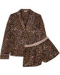Love Stories Vigo & Eddie Pyjama Aus Satin Mit Leopardenprint