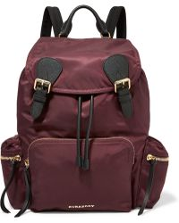 Burberry Prorsum - Leather-trimmed Shell Backpack - Lyst