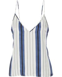 Protagonist - Striped Silk-twill Camisole - Lyst