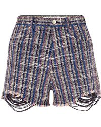 IRO - Embroidered Fitted Shorts - Lyst