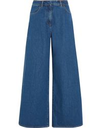 Kéji | Split High-rise Wide-leg Jeans | Lyst