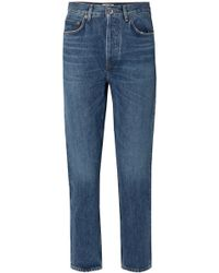 Agolde - Riley Cropped High-rise Straight-leg Jeans - Lyst