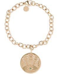 Marlo Laz - Talisman Coin Bracelet - Lyst