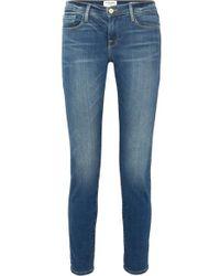FRAME - Le Garcon Mid-rise Slim Boyfriend Jeans - Lyst