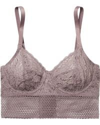 Else - Arya Stretch-lace And Mesh Underwired Bra - Lyst