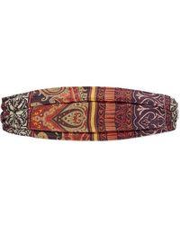 Etro Paisley-print Silk Headband - Red