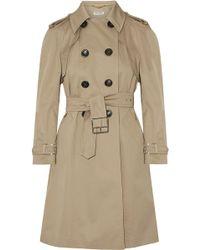 Miu Miu   Belted Cotton-blend Gabardine Trench Coat   Lyst