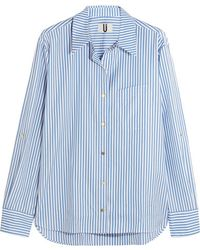 Topshop Unique - Dorney Striped Cotton-poplin Shirt - Lyst