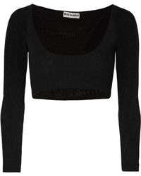 Molly Goddard - Katie Cropped Mesh Top - Lyst
