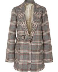 JOSEPH - Gemina Checked Wool Blazer - Lyst