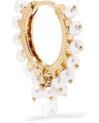 Maria Tash - Coronet 18-karat Gold, Pearl And Diamond Earring - Lyst