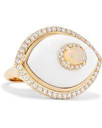 Marlo Laz - Eyecon 14-karat Gold Multi-stone Ring Gold 7 - Lyst