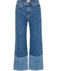 Simon Miller - Cropped High-rise Wide-leg Jeans - Lyst