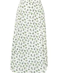 Emilia Wickstead - Luison Wrap-effect Floral-print Crepe Midi Skirt - Lyst