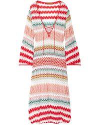 Missoni - Mare Donna Lace-up Crochet-knit Kaftan - Lyst