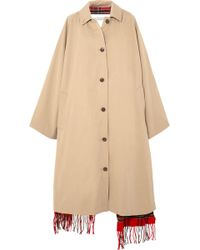 Vetements - Wool-lined Cotton Trench Coat - Lyst