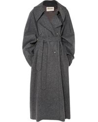 Awake - Oversized Double-breasted Wool-blend Felt Coat - Lyst