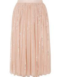 Needle & Thread - Sequined Tulle Midi Skirt - Lyst