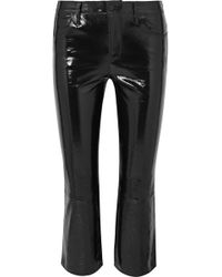 J Brand - Selena Cropped Glossed-leather Bootcut Pants - Lyst
