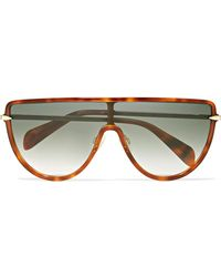 Rag & Bone - D-frame Acetate And Gold-tone Sunglasses - Lyst