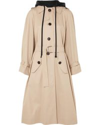 Miu Miu - Oversized Cotton-poplin Trench Coat - Lyst