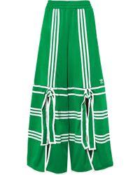 adidas Originals - + Ji Won Choi Striped Satin-jersey Track Pants - Lyst