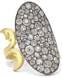 Sylva & Cie - 18-karat Gold, Sterling Silver And Diamond Ring Gold 6 - Lyst