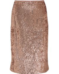 J.Crew - Sequined Crepe Skirt - Lyst