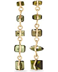 Melissa Joy Manning - 14-karat Gold Tourmaline Earrings - Lyst