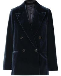 Acne Studios - Double-breasted Cotton-velvet Blazer - Lyst
