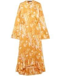 Mother Of Pearl   Oleta Crepe Satin Shirt Dress   Lyst