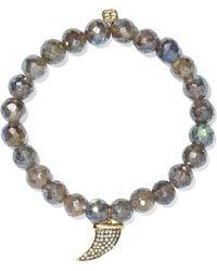 Sydney Evan - Horn Labradorite, Diamond And 14-karat Gold Bracelet - Lyst