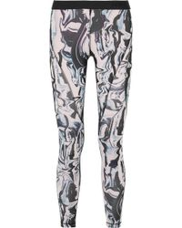 Nike - Hypercool Mesh-paneled Printed Dri-fit Stretch Leggings - Lyst