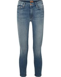 Mother - Jean Skinny Raccourci Taille Haute The Looker - Lyst