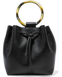 Theory - Drawstring Leather Tote - Lyst
