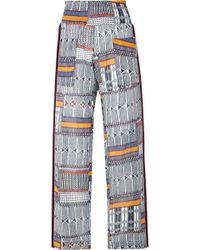 lemlem - Kente Smocked Canvas-trimmed Printed Cotton-gauze Pants - Lyst