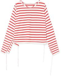 MM6 by Maison Martin Margiela - Striped Cotton Top - Lyst